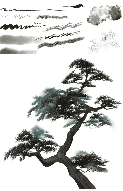 【CG插画】水墨古风人像绘制视频教程