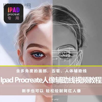 Ipad Procreate人像辅助线视频教程+素材(非常实用)