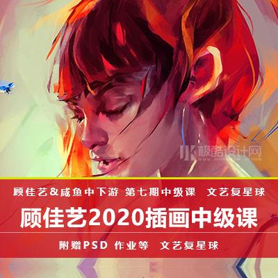 2020顾佳艺文艺复兴球第七期中级课程插画视频教程